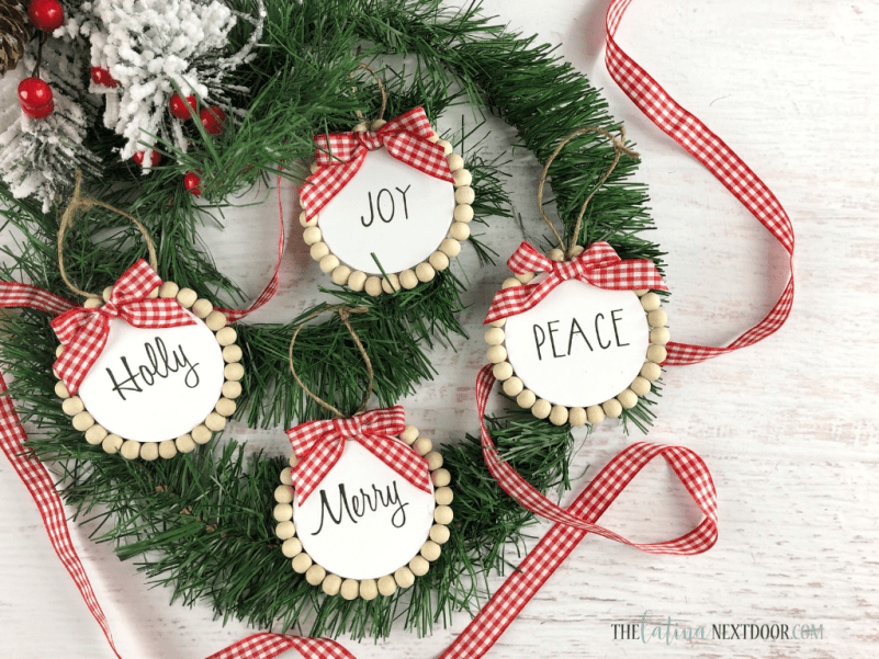 Dollar Tree Farmhouse Christmas Ornaments 1 Dollar Tree Farmhouse Christmas Ornaments