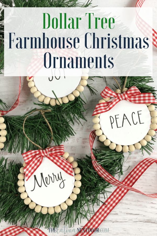 Dollar Tree Farmhouse Christmas Ornaments Dollar Tree Farmhouse Christmas Ornaments