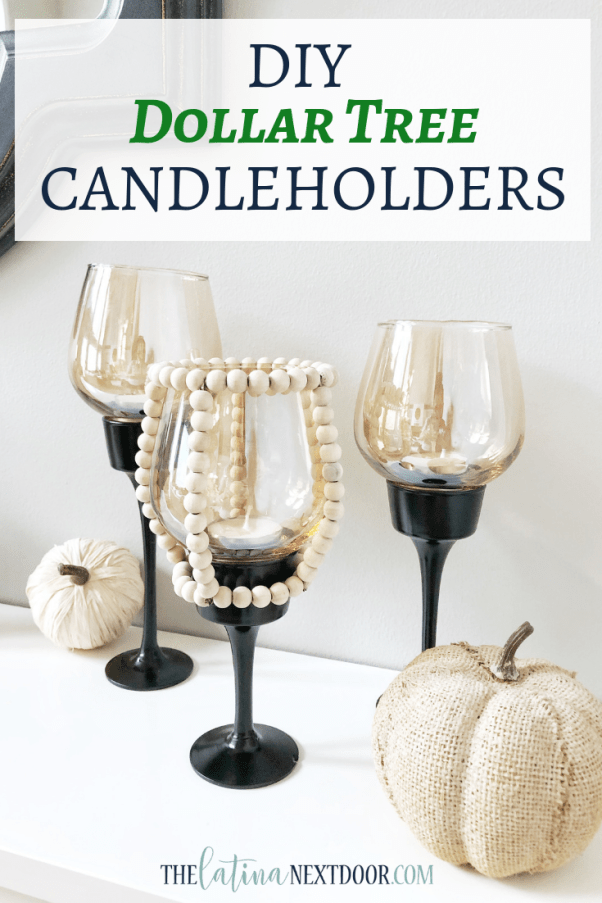 DIY Dollar Tree Candleholders  DIY Dollar Tree Candleholders