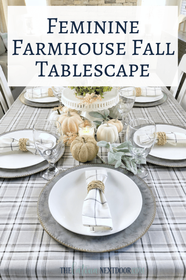Feminine Farmhouse Tablescape Pin2 Feminine Fall Farmhouse Tablescape