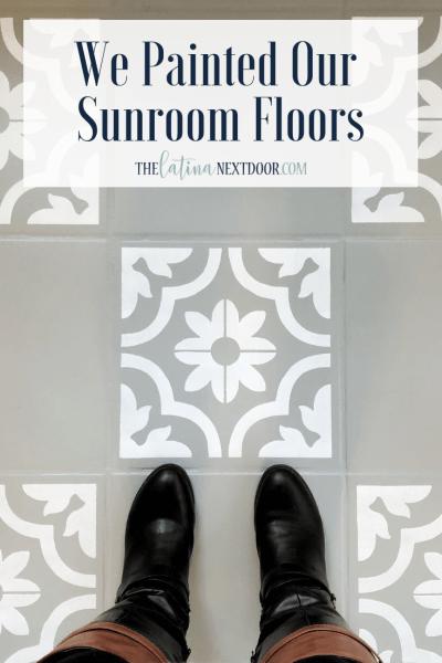 Painted Sunroom Floor Tiles