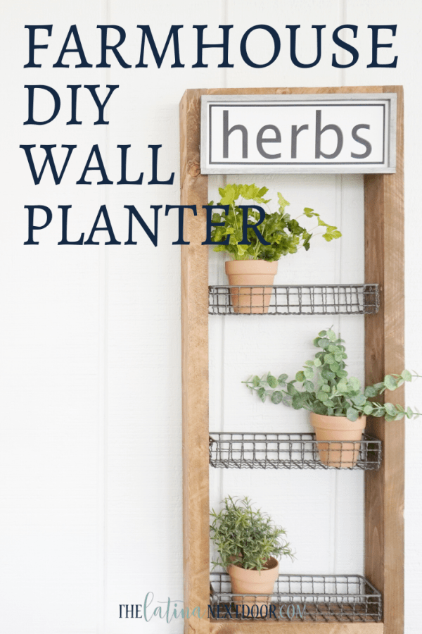 DIY FARMHOUSE WALL PLANTER Pin DIY Farmhouse Wall Planter
