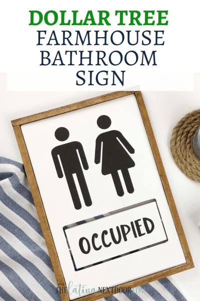 Dollar Tree Farmhouse Bathroom Sign