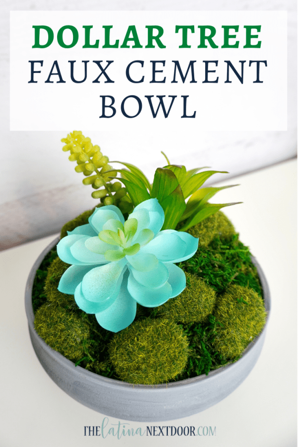 Dollar Tree Faux Cement Bowl Dollar Tree Faux Cement Bowl