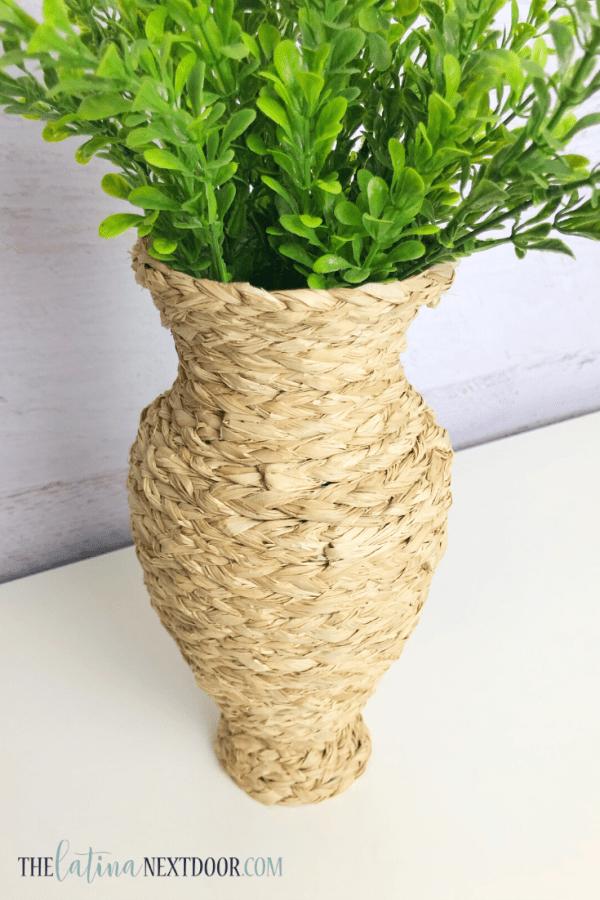 DIY Seagrass Vase 10 DIY Seagrass Vase