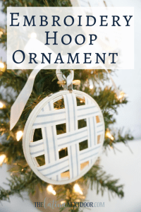 %name Embroidery Hoop Ornament Pin