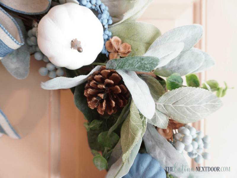 Look for Less Fall Wreath 11 Blue & White Fall Wreath