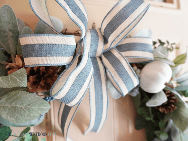 Look for Less Fall Wreath 12 Blue & White Fall Wreath