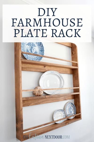 DIY Farmhouse Rustic Plate Rack