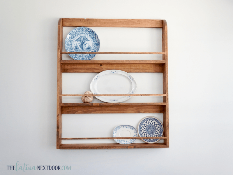 DIY Farmhouse Plater Rack 11 DIY Farmhouse Rustic Plate Rack