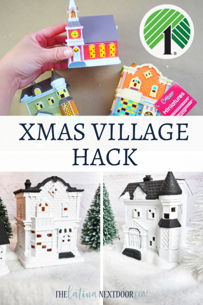 Dollar Tree Christmas Village Hack