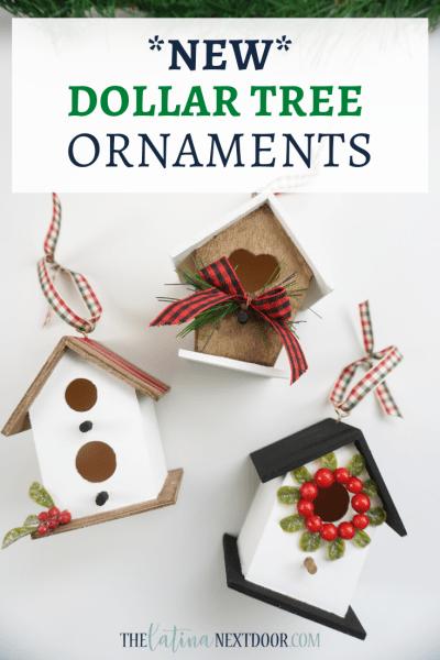 Dollar Tree Birdhouse Ornaments