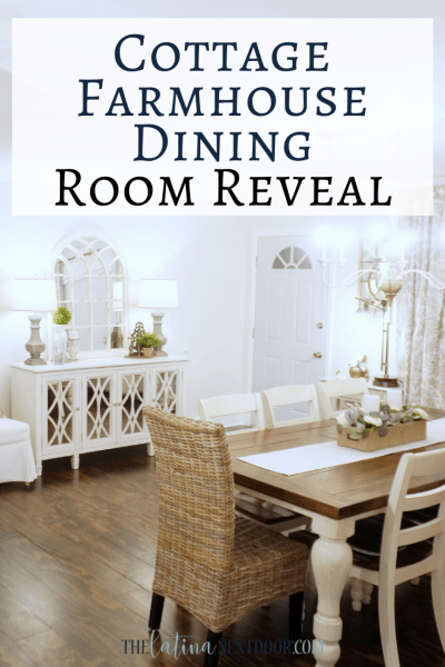Cottage Farmhouse Dining Room Reveal