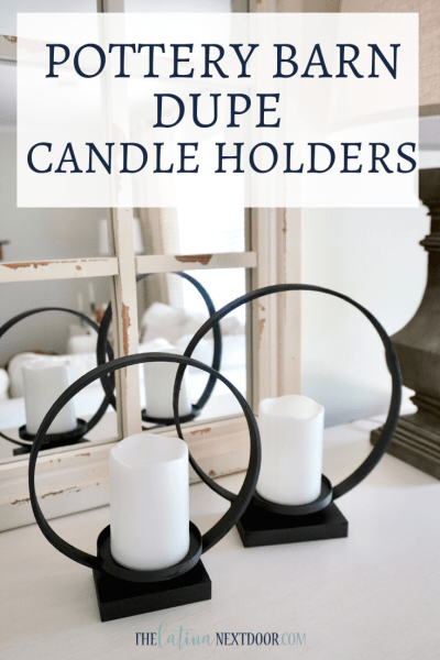 Pottery Barn Dupe Ring Candle Holders