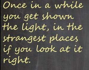 Chalkboard-shown the light