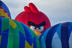 angry bird balloon