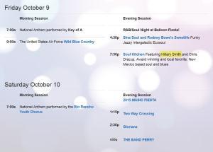 balloon fest music schedule