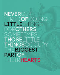 do the little things