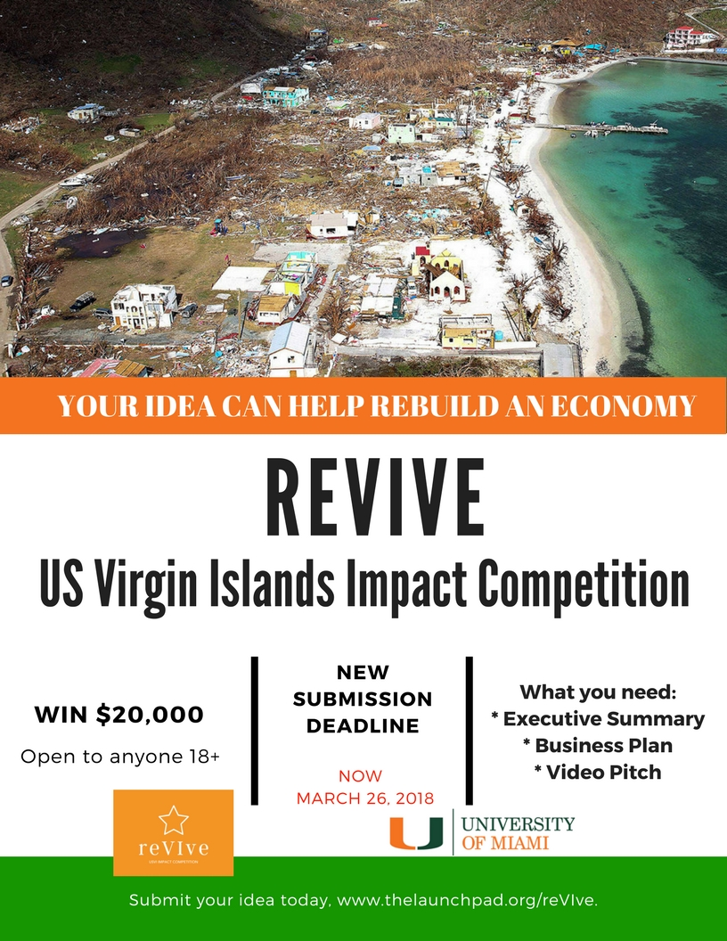 UM USVI ReVIve competition