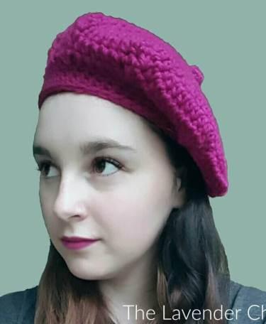 Raspberry Beret - Free Crochet Pattern - The Lavender Chair