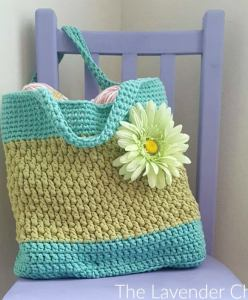 Brickwork Beach Bag- Free Crochet Pattern - The Lavender Chair