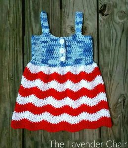 Red White and Blue Jean Dress - Free Crochet Pattern - The Lavender Chair