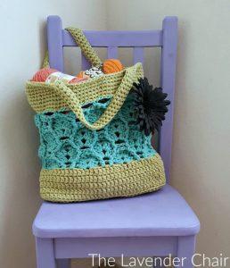 Wheat Fields Market Tote Crochet Pattern - The Lavender Chair