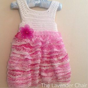 Sashay Ruffles Dress - Free Crochet Pattern - The Lavender Chair