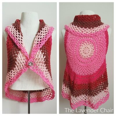 Pocket Full of Posies Vest Crochet Pattern