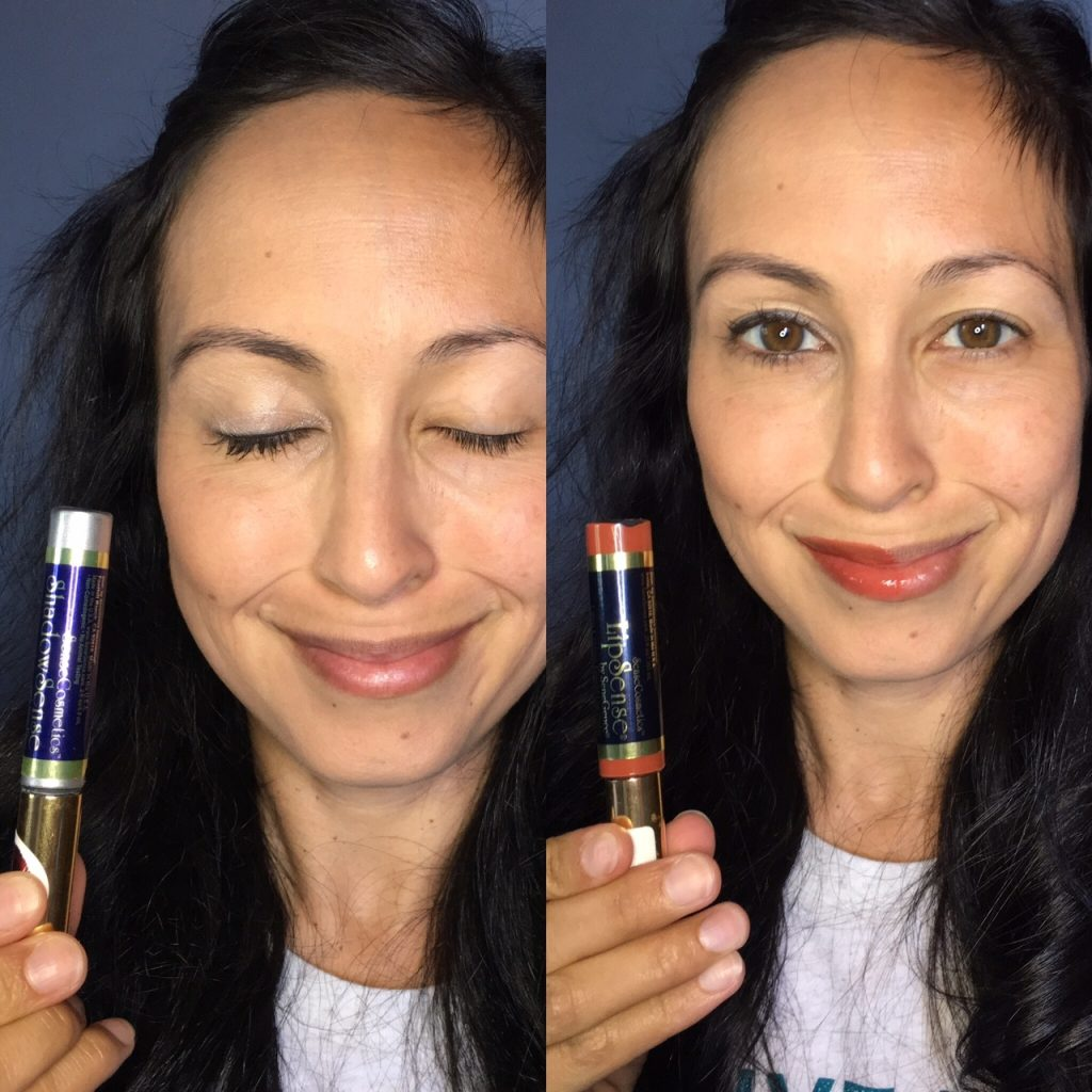 Liquid Eye Shadow To My Eyelids For A Pop Of Color It Goes On Wet, But  Dries Like A Powder! (this Shade Is Silver Shimmer) Lastly, I Apply  Lipsense