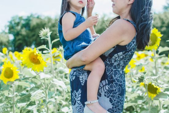 Maternity Photos In A Sunflower Field