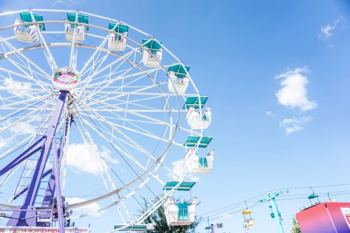 One of 2 Ferris Wheel's at the Iowa State Fair