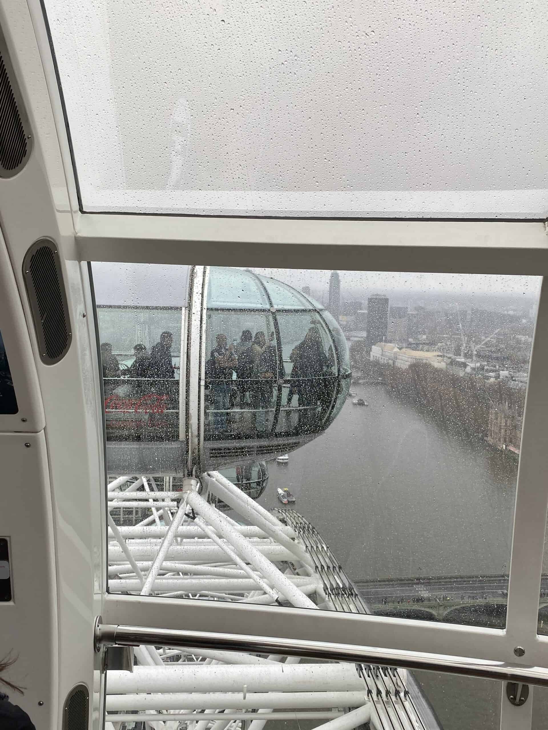 View from London Eye when it rains
