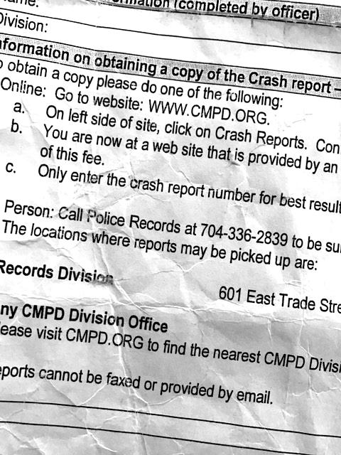 Understanding Your Charlotte Crash Report And Your Personal