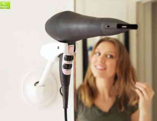 Do it the easy and hands free way with the Bestie Wall Mounted Hair Dryer Holder
