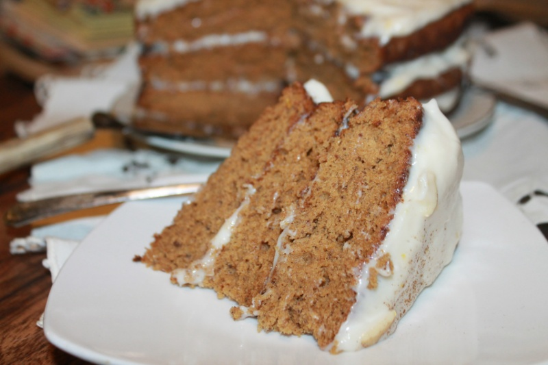 Triple Layer Spice Cake with Cream Cheese Frosting | The Lazy Vegan Baker