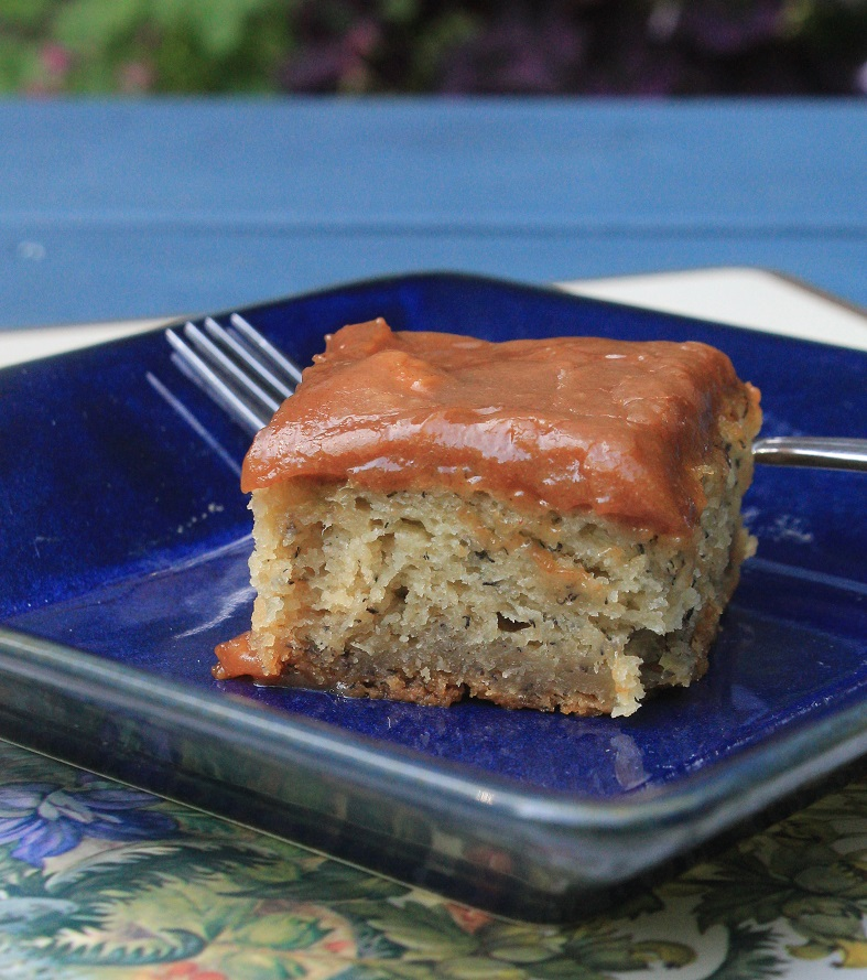 Banana Cake with Peanut Butter Frosting | The Lazy Vegan Baker