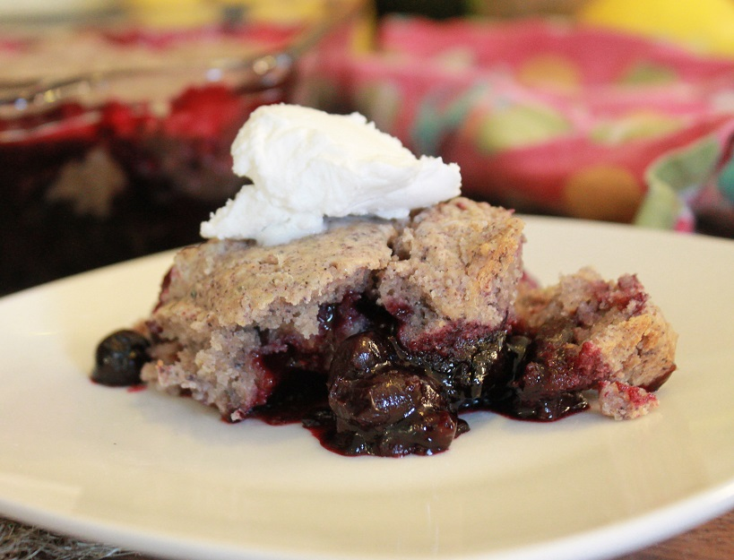 Cherry Blueberry Cornmeal Cobbler | The Lazy Vegan Baker