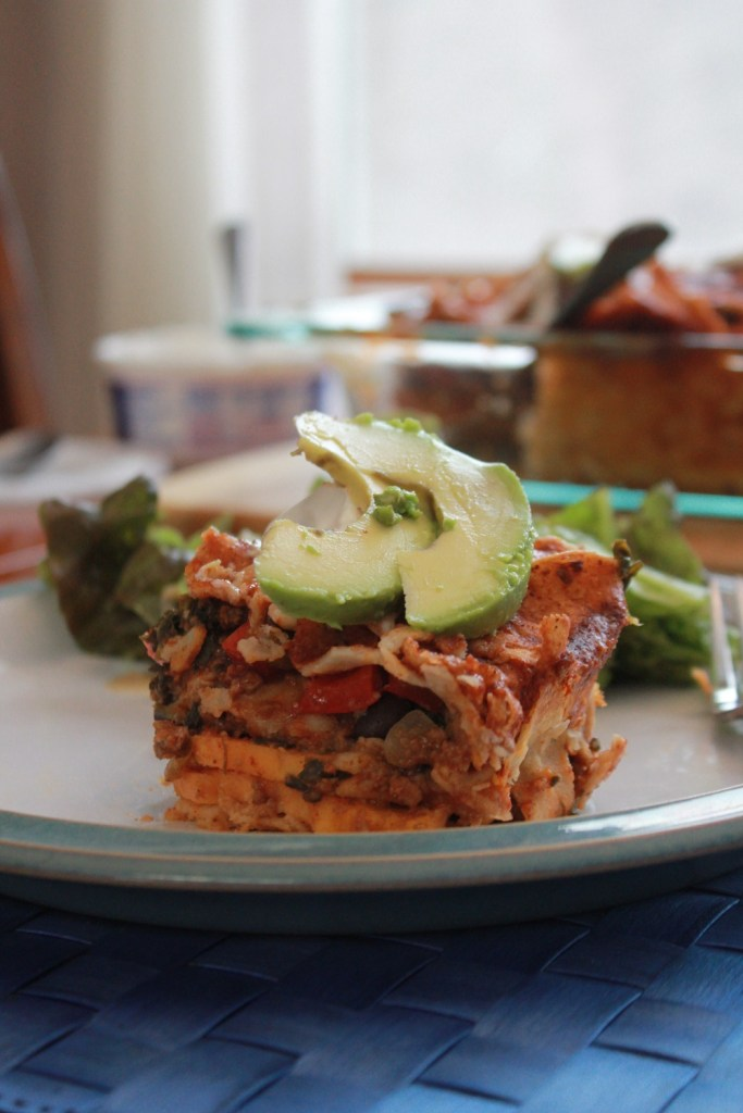 Sweet Potato Enchilada Casserole | The Lazy Vegan Baker