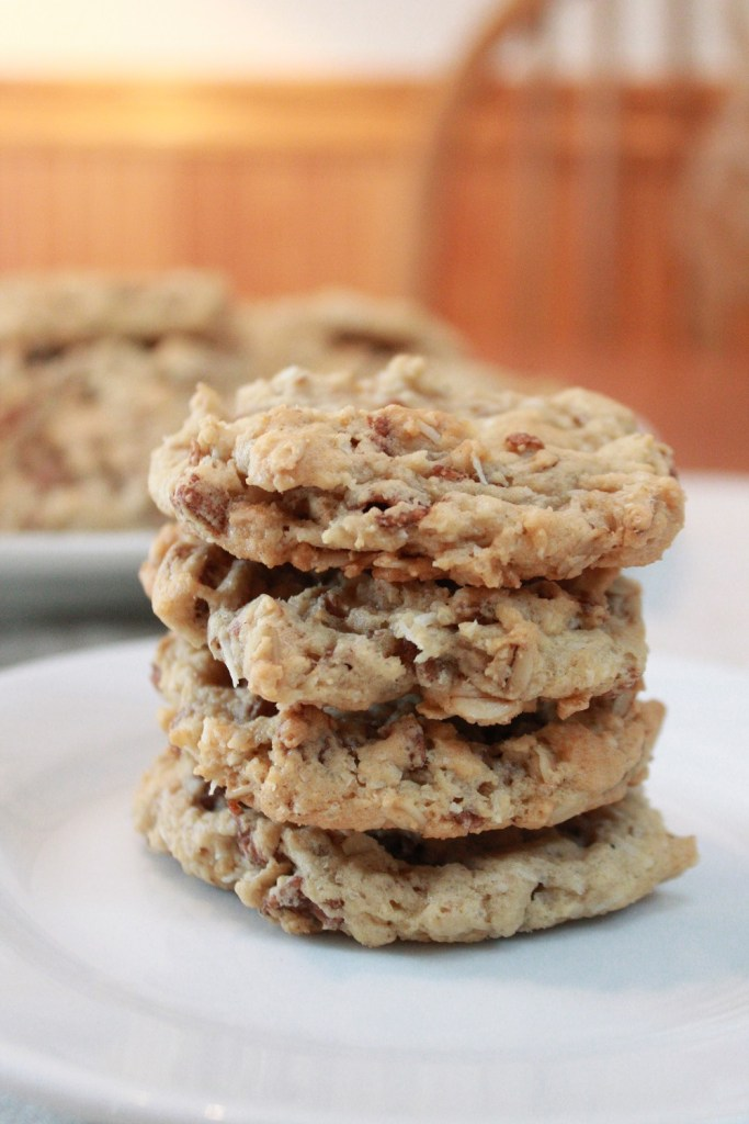 Chewy Cocoa Crispy Coconut Cookies - The Lazy Vegan Baker