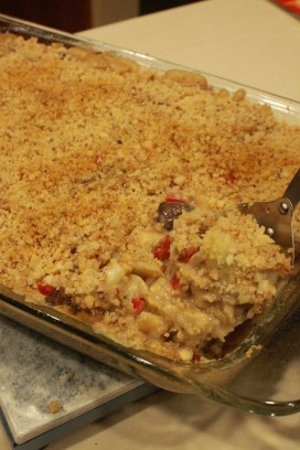 Seafood-less Newburg Casserole | The Lazy Vegan Baker