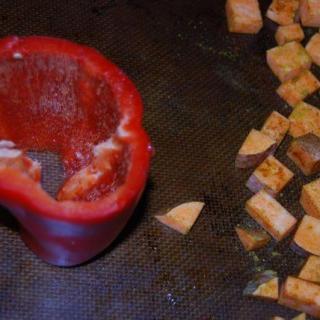 Cornbread, Apple & Sausage Stuffed Peppers