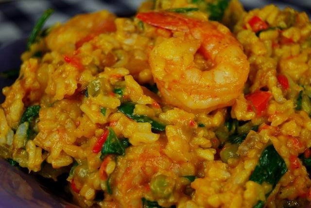 vegetable risotto with shrimp 5
