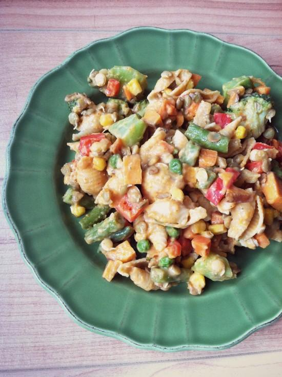 This vegetarian Lentil Vegetable Macaroni and Cheese is healthier than the boxed version and easy enough for even the newest cook!
