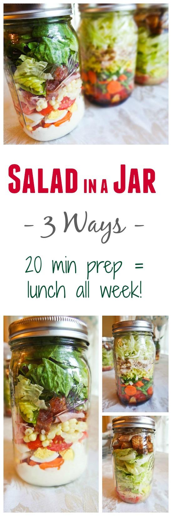 Looking for a quick lunch option? Spend 20 minutes prepping and you can have lunches ready and waiting in the fridge all week long. Try these 3 flavor combos or create your own!