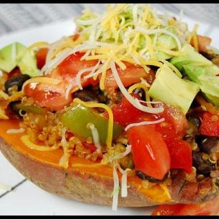 My Go-To Meals: Mexican Loaded Sweet Potatoes