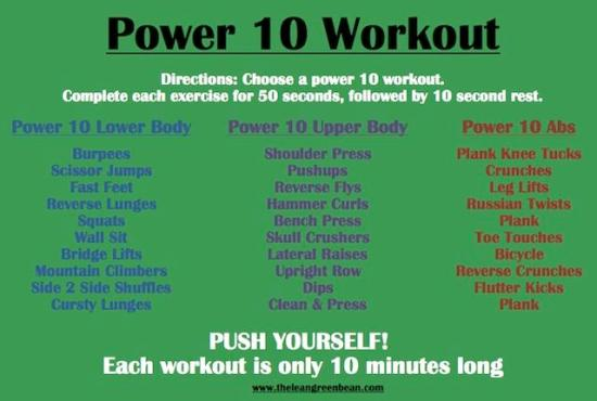 Power 10 Cardio Workout