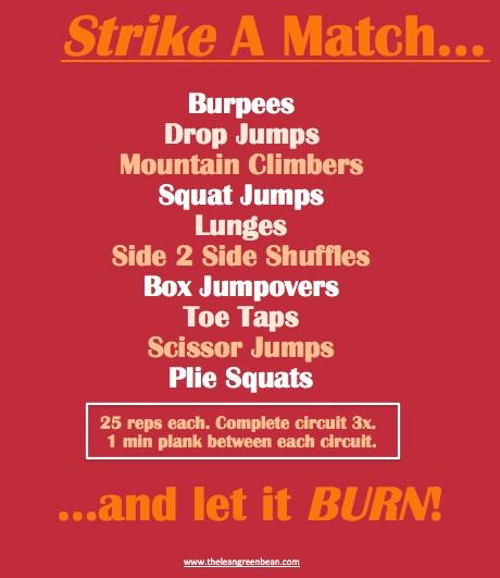 Strike A Match Cardio Burn Workout