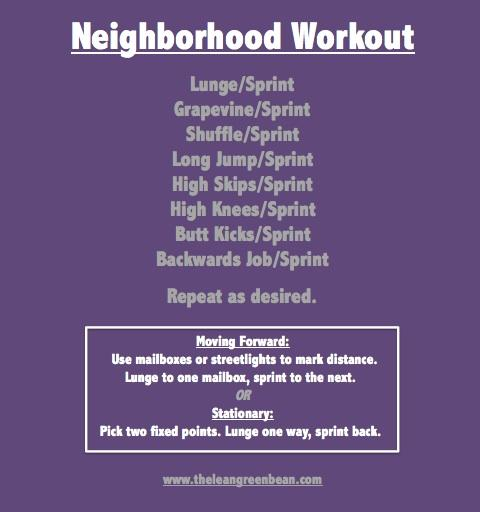 Neighborhood Cardio Workout