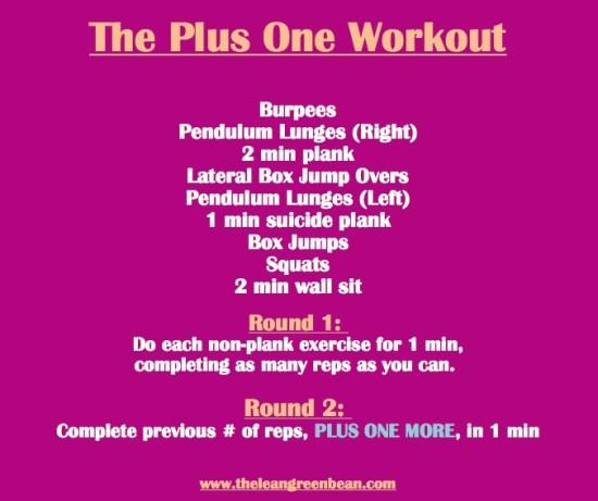 Plus One Cardio Workout